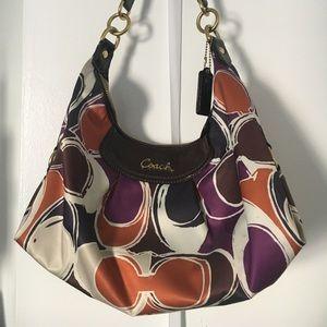 Coach Ashley Scarf Print Hobo Shoulder Bag F20063
